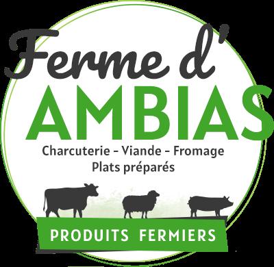 Logo de la Ferme d'Ambias en Aveyron, charcuterie, viande et fromages