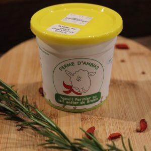 Yaourt de Brebis (à l'huile essentielle BIO de citron)